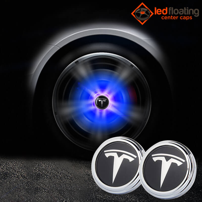 Tesla Model 3 Led Center Caps - Floating Center Caps Shop