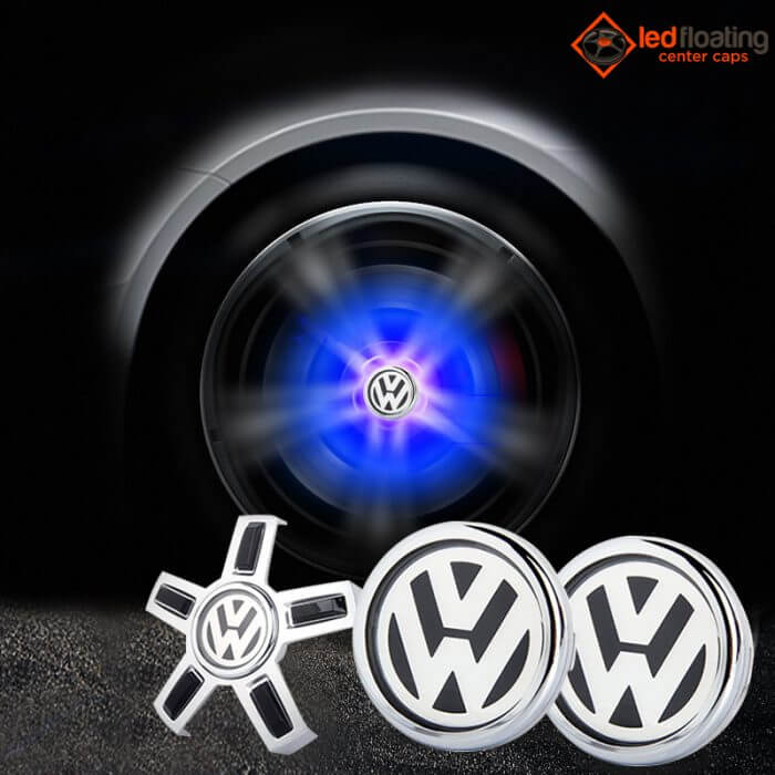 VW Floating Center Caps with 5 Hooks