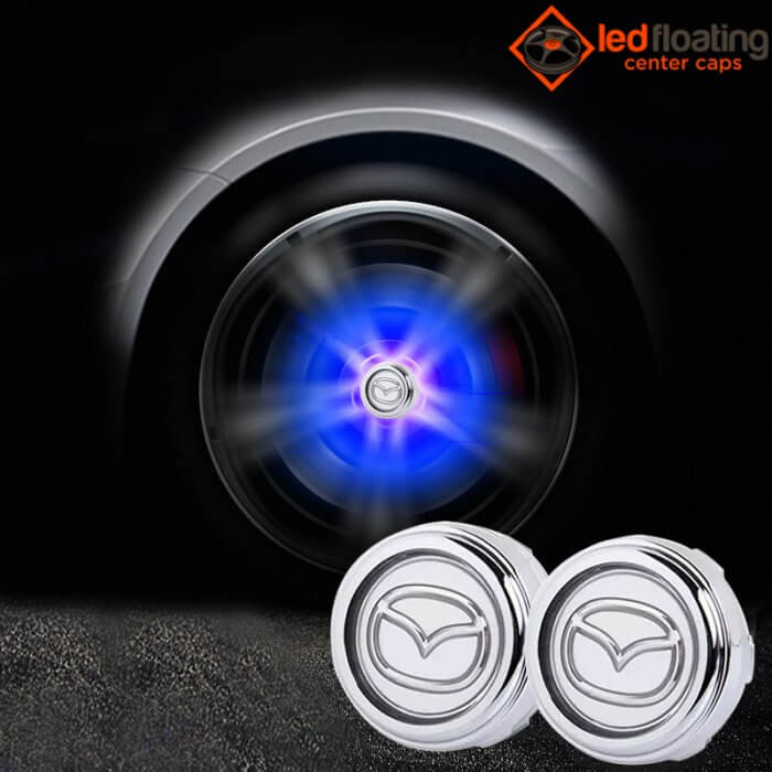 mazda Floating Center Caps 56mm (Silver)