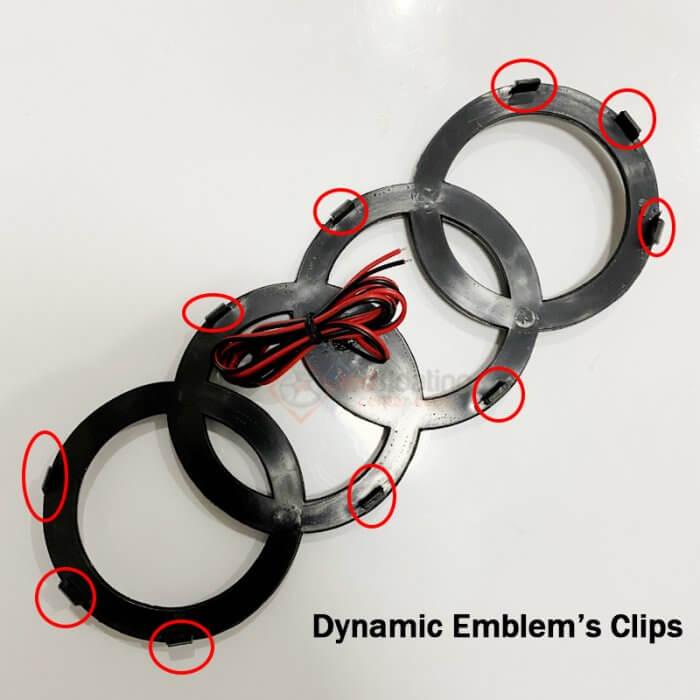 clips Dynamic Audi Emblem for Audi e-tron