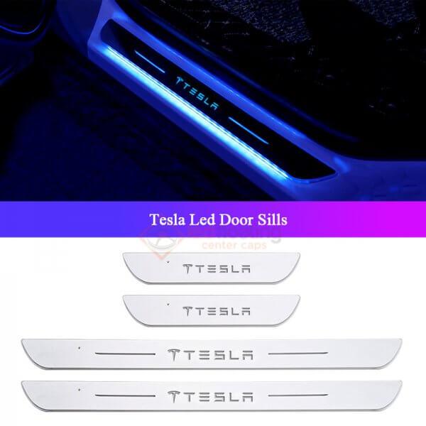 Tesla Led Door Sills Tesla LED Door Sill