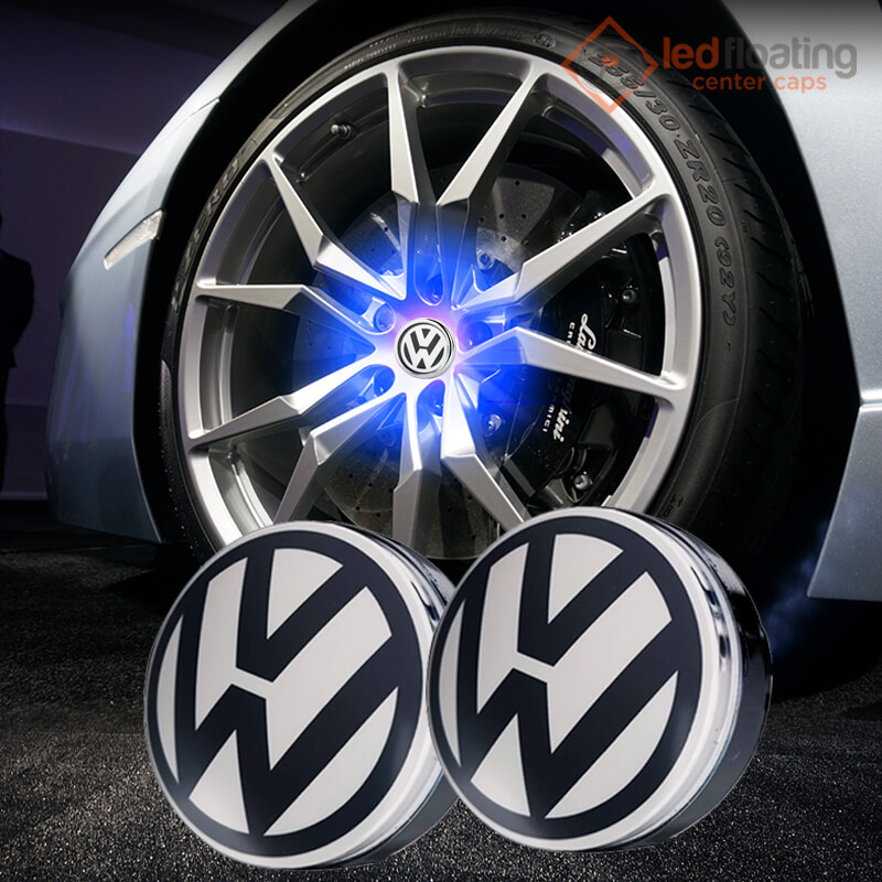 Volkswagen VW Led Floating Center Caps 65mm(Two Colors )