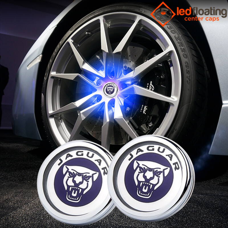 Jaguar Floating Wheel Caps 64mm