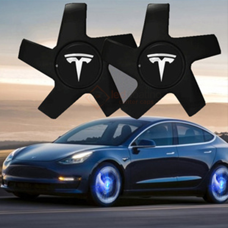 Tesla Model 3 Led Center Caps w/ Five Claws