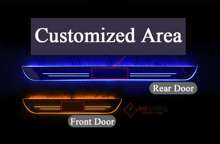 LED Door Sill size Honda LED Door Sill