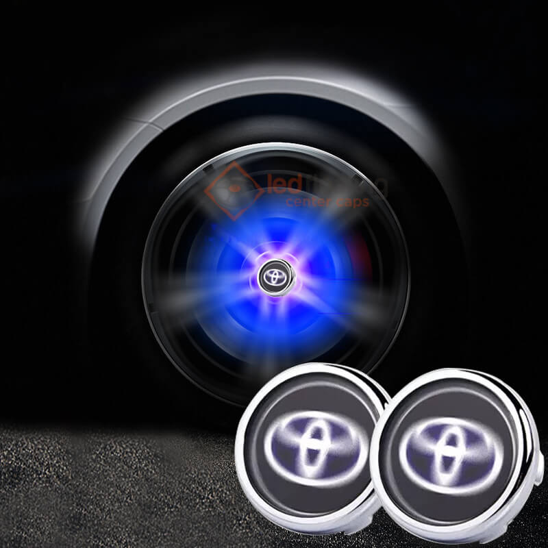 Toyota Floating Center Caps 57mm 62mm (Black and Blue)
