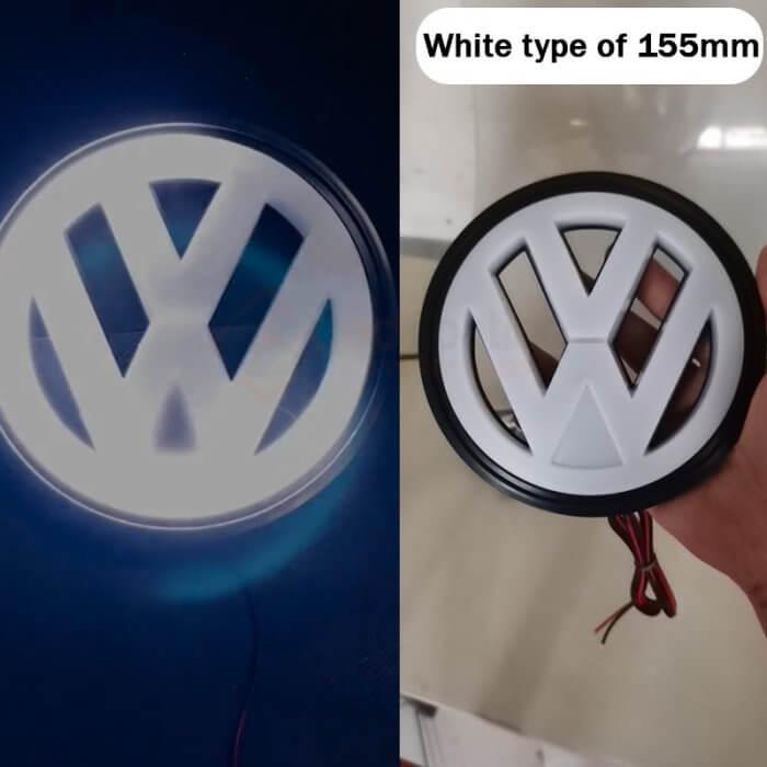 light up vw emblem 155mm