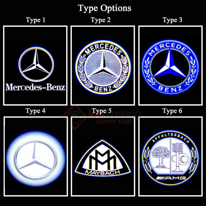 test3 Mercedes Led Logo Projector(2Pcs)