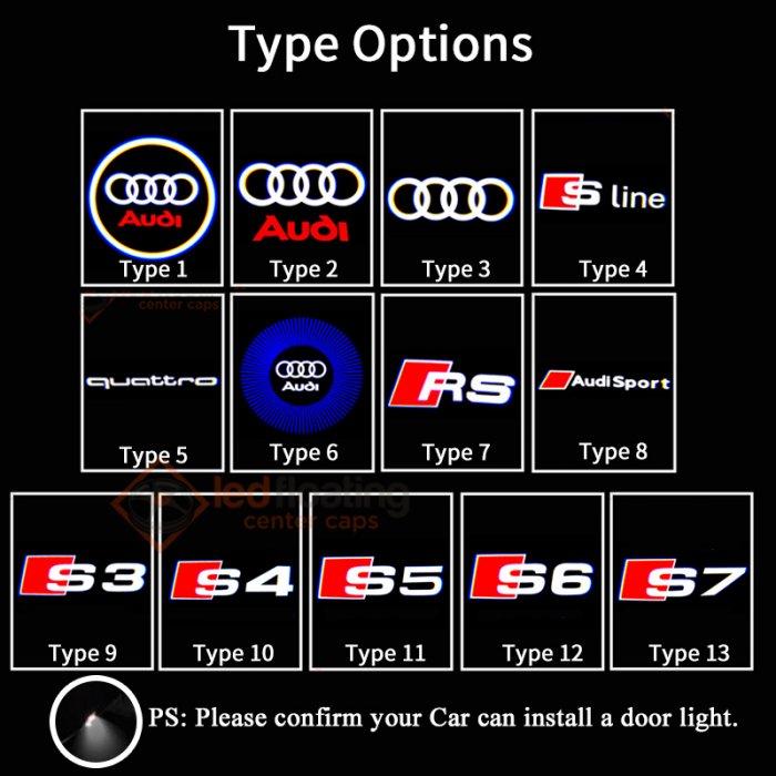ThisAudi car door light is suitable for Audi S3 S4 S5 S6 S7 S8 SQ5.