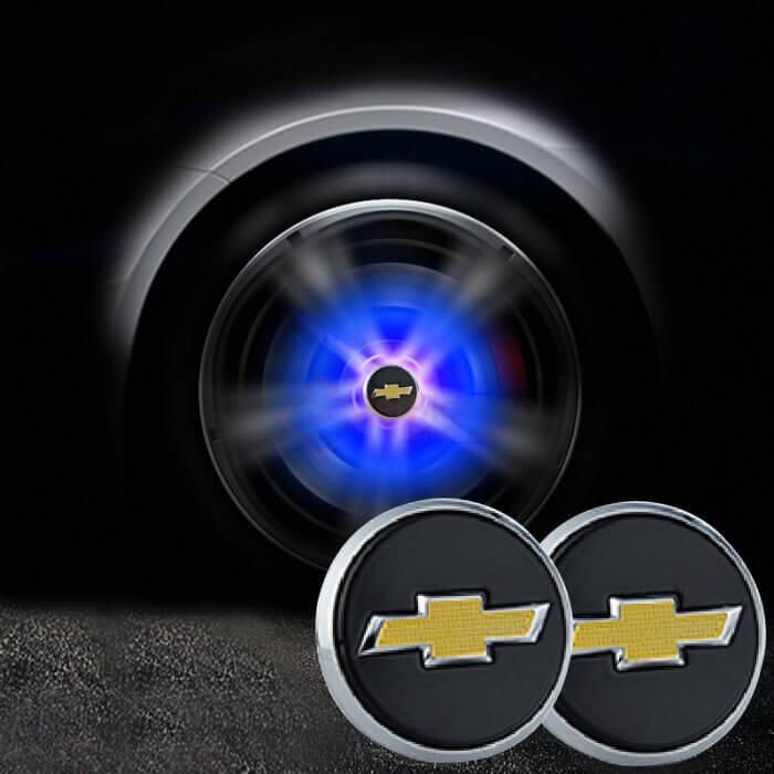 Chevrolet Floating Center Caps 54mm (Black)