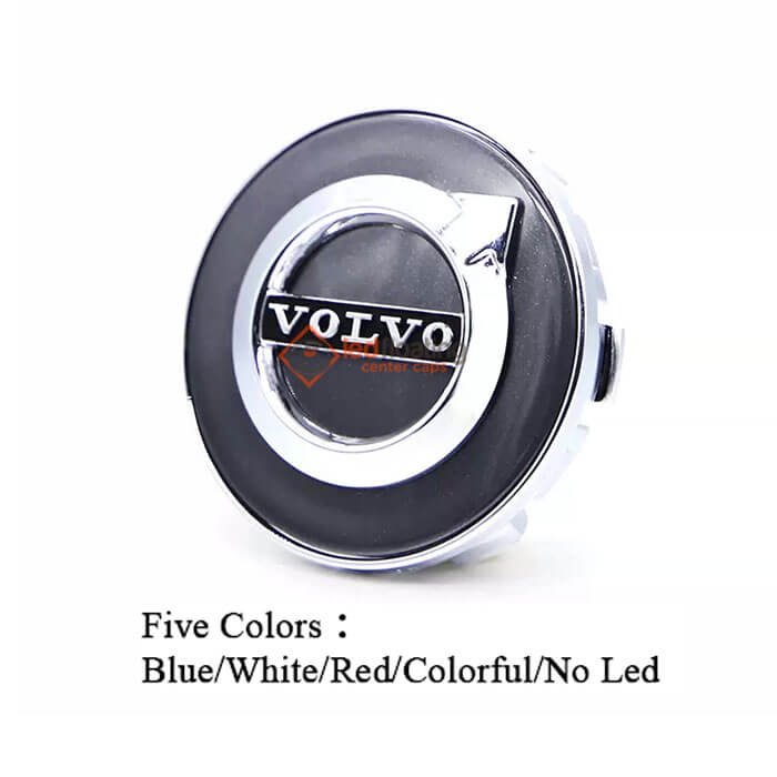 Volvo Floating Center Caps 63mm (Gray)